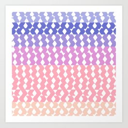 Geometrical abstract ombre pink lilac lavender pattern Art Print