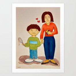 Pembral and Mom Art Print