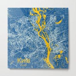 Kiev, Ukraine street map Metal Print