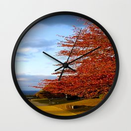 Fall Day in Kyoto Wall Clock