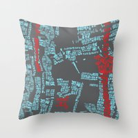 bali Throw Pillows featuring Bali by The Happy Scientist