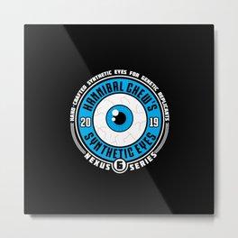 Synthetic Eyes Metal Print