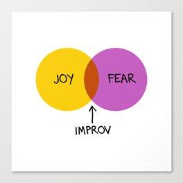 The Venn of Improv (Yellow/Violet) Canvas Print