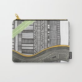 Hand drawn pattern wave Carry-All Pouch