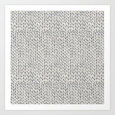 Hand Knit Grey Art Print