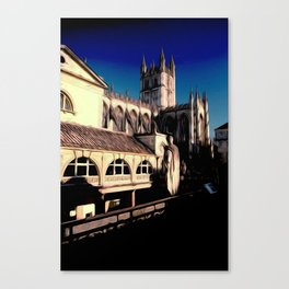 Cathedral and Roman Baths Canvas Print