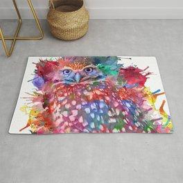 Rainbow owl Rug