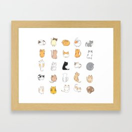 Funny And Cute Cats Emotions Framed Art Print