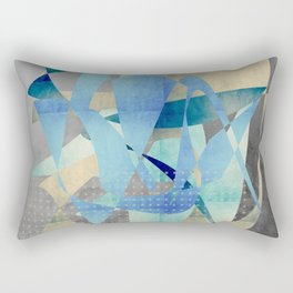 Blue and gold shapes Rectangular Pillow