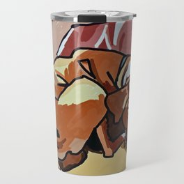 Abby Rests Boxer Dog Portrait Travel Mug