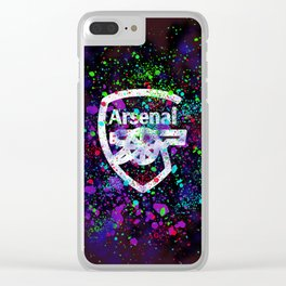Arsenal Watercolor Clear iPhone Case