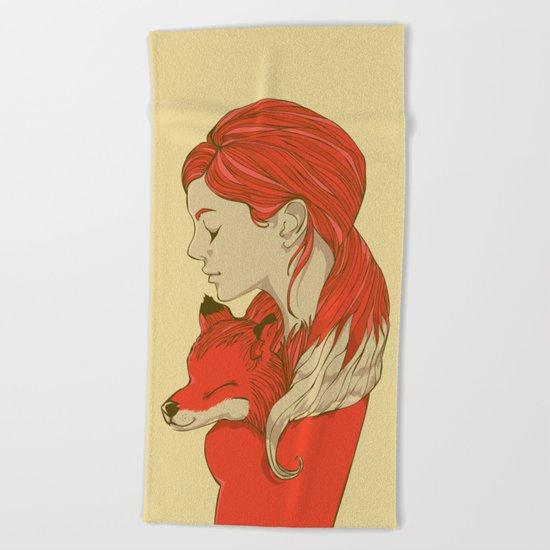 Lady Fox Beach Towel