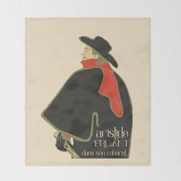Bruant in his cabaret retro vintage Throw Blanket