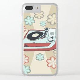 Retro Vinyl Clear iPhone Case
