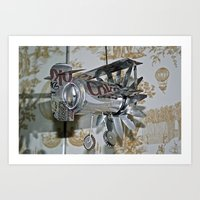 airplane Art Prints featuring Airplane by Haley M