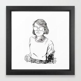 She loves ink Framed Art Print