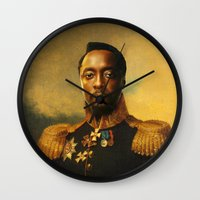 replaceface Wall Clocks featuring will.i.am - replaceface by replaceface