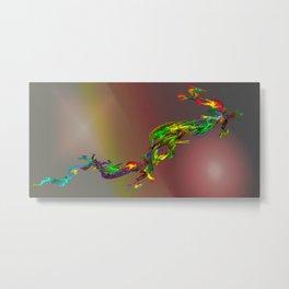 Abstract lighteffects -21- frakdragonal Metal Print