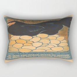 Vintage poster - I am a Fine War Hen Rectangular Pillow