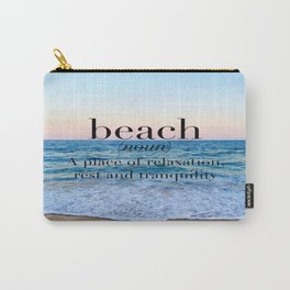 beach definition Carry-All Pouch