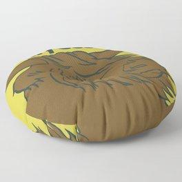 Scottish Hairy Coo (Green) Floor Pillow
