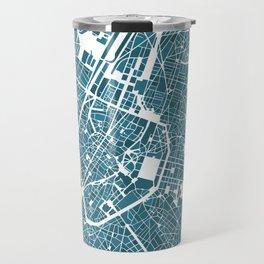Brussels City Map I Travel Mug