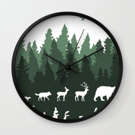 The Walk Through The Forest Wall Clock