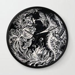 Birds of Paradise - Art by Lana Chromium Wall Clock