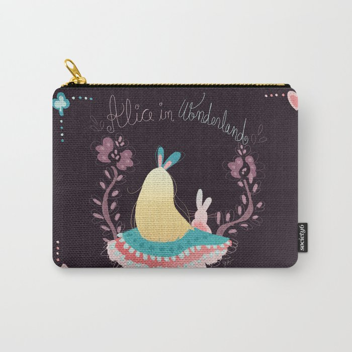 Alice In Wonderland. Carry-All Pouch