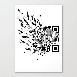 Break a (QR) Code Canvas Print