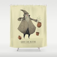 potter Shower Curtains featuring the potter. by Louis Roskosch