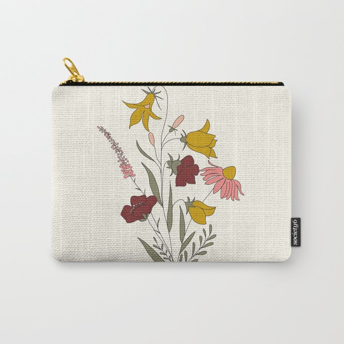 Wildflowers Bouquet Carry-All Pouch