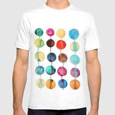 Planets Mens Fitted Tee MEDIUM White