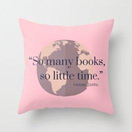 So Many Books, Throw Pillow