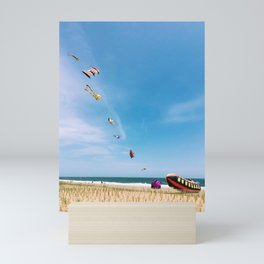 Kites flying at beach | Float on | Rehoboth Beach, DE Mini Art Print