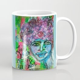 LiVE YOUR LIFE in CoLOR! (teal) Coffee Mug