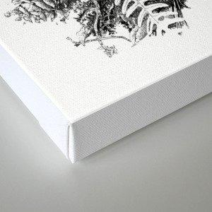 Inky Undergrowth Canvas Print