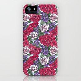 Chevron Floral Bright iPhone Case