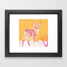 Stag Points Framed Art Print