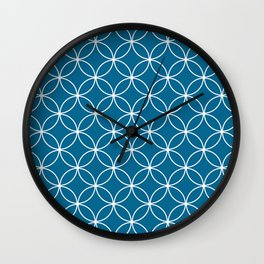 Crossing Circles - Midnight Wall Clock