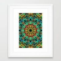 kaleidoscope Framed Art Prints featuring Kaleidoscope by Klara Acel
