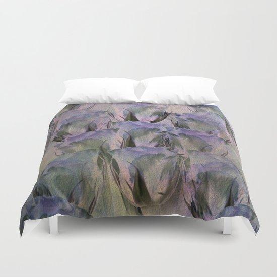 Glamorous Lavender Roses Abstract Duvet Cover