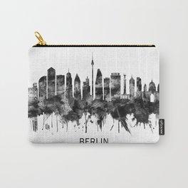 Berlin Germany Skyline BW Carry-All Pouch