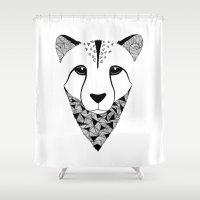 cheetah Shower Curtains featuring Cheetah by Art & Be