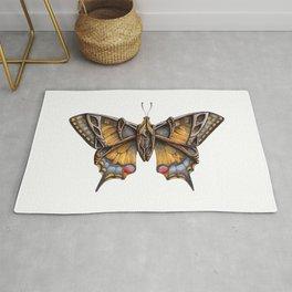 Steampunk Swallowtail Butterfly Rug