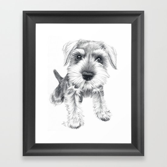 Schnozz the Schnauzer Framed Art Print