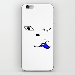 The Blue Tongue iPhone Skin