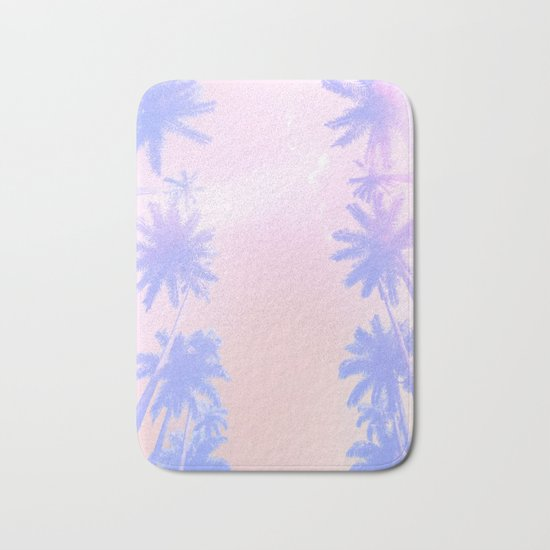 Pastel Palms Bath Mat