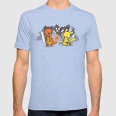 Toastymon X-LARGE Mens Fitted Tee Tri-Blue
