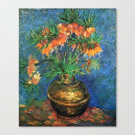 Vincent Van Gogh Frittilaries in Copper Vase 1887 Canvas Print